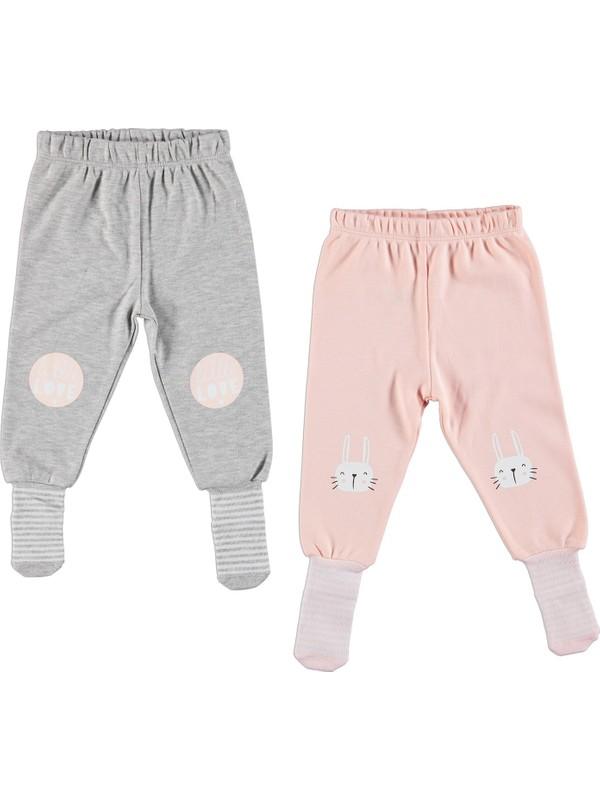 Hellobaby Bebek Baskılı 2'li Çoraplı Pantolon
