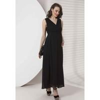 Entarim Hamile Şifon Elbise Siyah 40