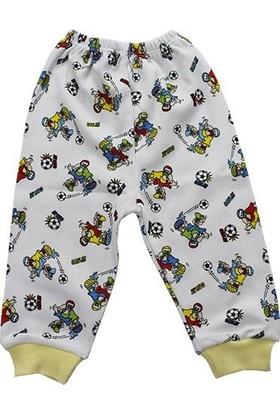 Alya Sarı Biyeli Futbol Baskılı 0-3 Ay Bebek Ikili Pijamatakım