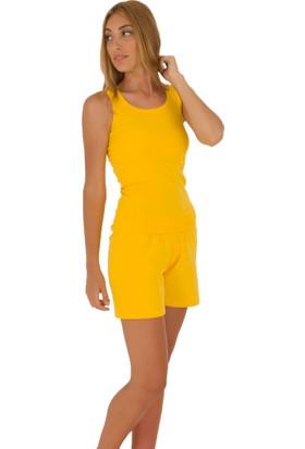 The Don Sarı Renk Kadın Ribana Şort Takımı