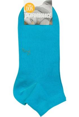 The Don Turkuaz Renk Kadın Patik Çorap