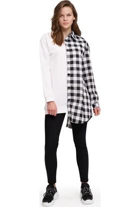 Mizalle Youth Kadın Tasarım Sweatshirt Gömlek