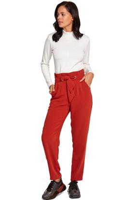Mizalle Kadın Kuş Gözü Detaylı Pantolon