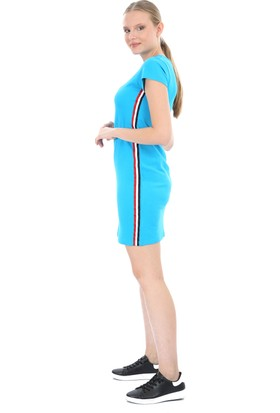 Toontoy Kadın Yanları Şeritli Elbise