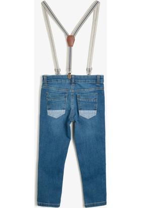 Koton Erkek Çocuk Kemer Detaylı Jean Pantolon