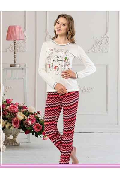 Misstiko Kardan Adam Baskılı Kadın Pijama Takımı