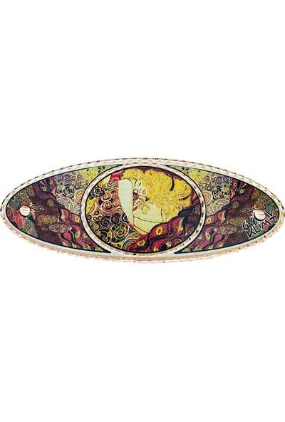 Lotis Gustav Klimt Danae Tapestry Bakır Saç Tokası