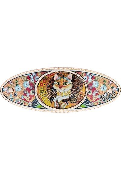 Lotis Gustav Klimt Altın Kedi Saç Tokası