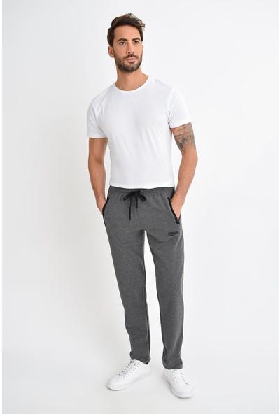 Tena Moda Erkek Antrasit Petek Fermuarlı Eşofman Altı 9KEESIF7009