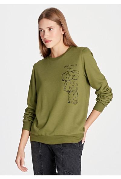 Kediler Baskılı Sweatshirt 168157-29704