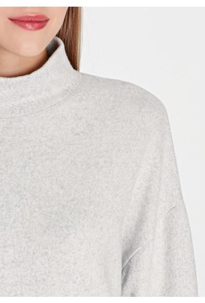 Düğme Detaylı Dik Yakalı Sweatshirt 168307-28941