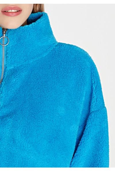 Peluş Mavi Sweatshirt 168329-30377