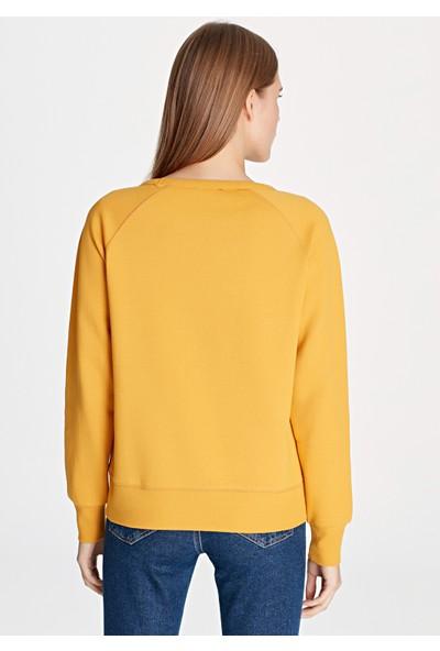 Kurt Baskılı Mavi Sweatshirt 168392-27149