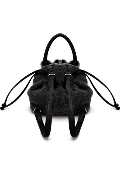Siyah Shearling Bucket Çanta 196682-900
