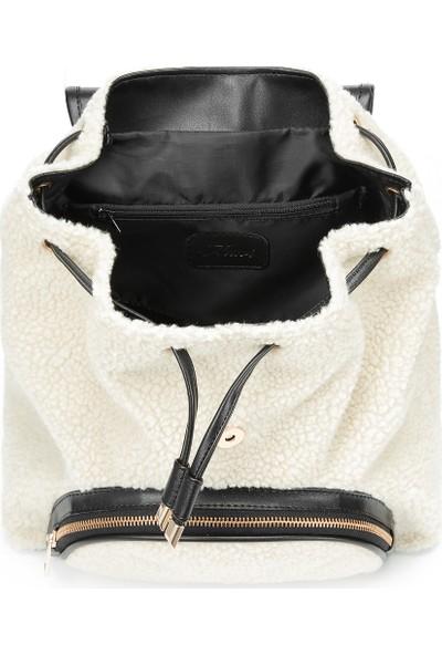 Siyah Shearling Sırt Çantası 196683-900
