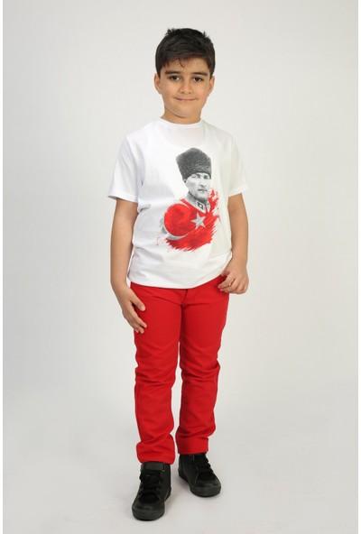 Toontoy Unisex Çocuk Atatürk Baskılı T-Shirt