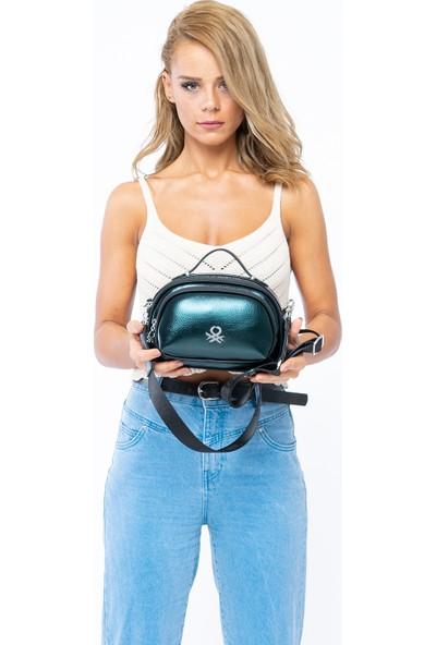 Benetton Kadın Çapraz Çanta Petrol BNT199