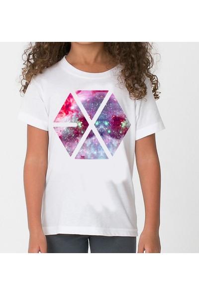 TakeTshirt Exo Çocuk Beyaz Tshirt