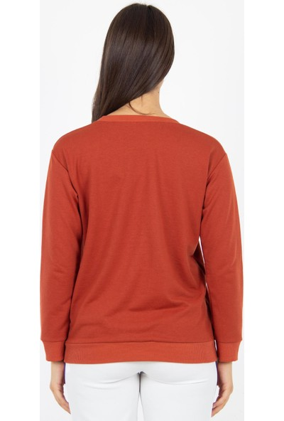 Morpile Kadın Baskılı Sweatshirt