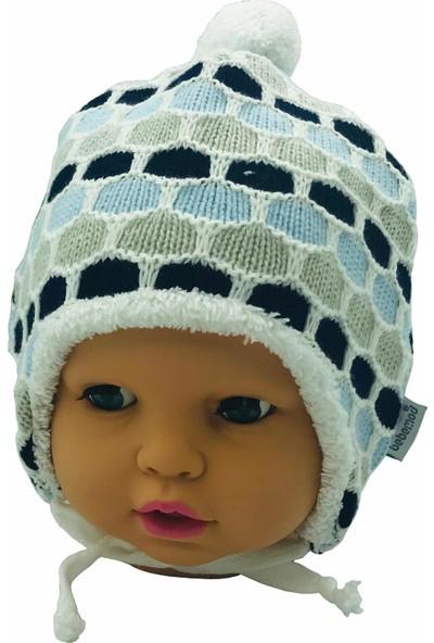 Bebemod Kulaklıklı Örgülü Polar Bebek Bere Şapka 0-18 Ay