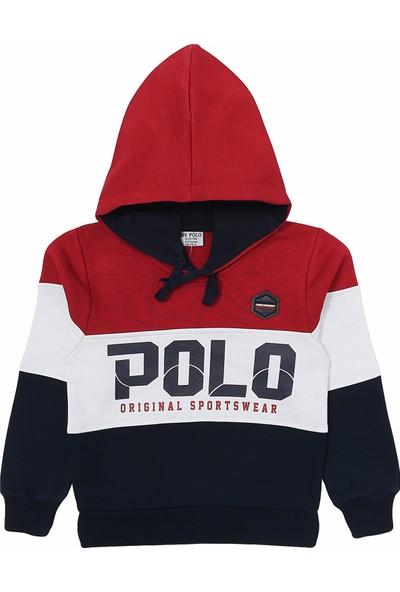 Ny. Polo 4 Ip Kalın Kışlık Erkek Çocuk Kapşonlu Eşofman Takımı 5 - 6 Yaş