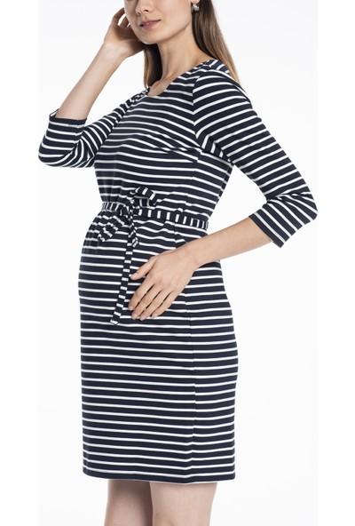 Lyn Devon Hamile Kadın Evan Elbise - Lacivert