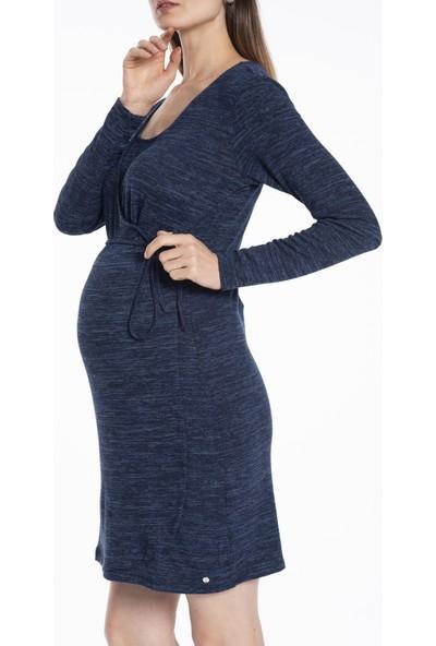 Lyn Devon Hamile Kadın Marcus Elbise - Lacivert