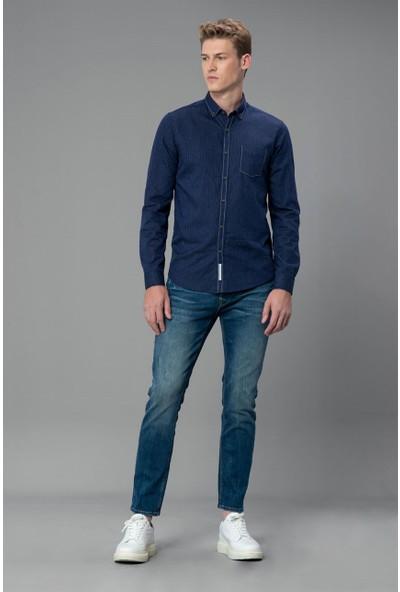 Lufian Erkek Comfort Slim Fit Mallaig Spor Gömlek