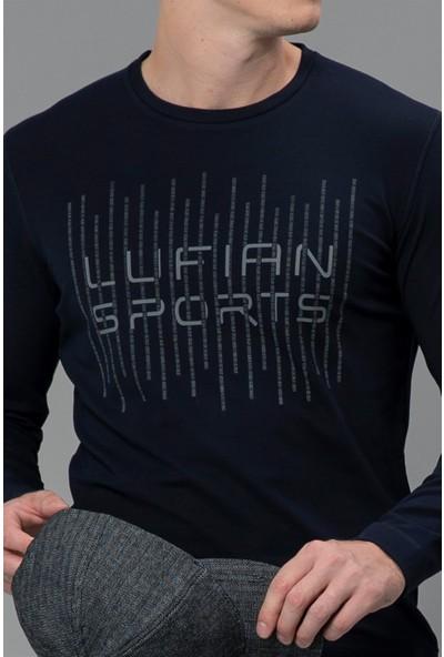Lufian Erkek Safir Grafik T- Shirt