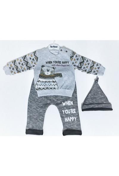 Beboo Bereli Haki Erkek Bebek Takımı 18-24 Ay