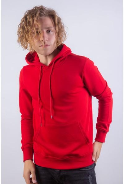 Densmood Düz Kapüşonlu Sweatshirt