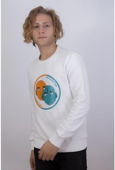 Densmood Erkek Baskılı Sweatshirt