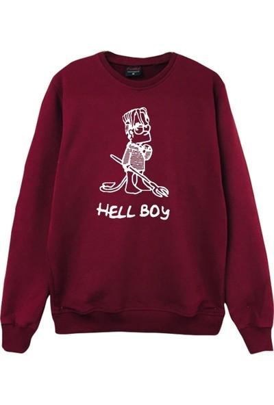 Lil Peep Büyük Beden Sweatshirt - Bordo-SWB