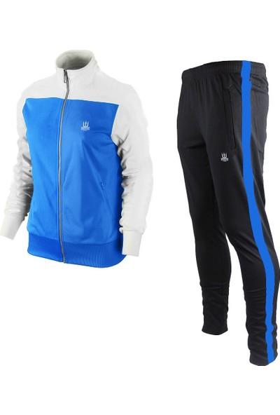 Poseıdonstorm Erkek Kolları Beyaz Eşofman Takımı Mavi