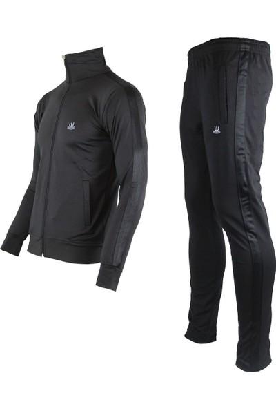 Poseıdonstorm Siyah Erkek Eşofman Takımı Siyah Şerit