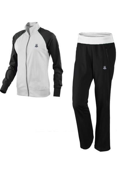 Poseıdonstorm Kadın Kolları Siyah Eşofman Takımı Beyaz
