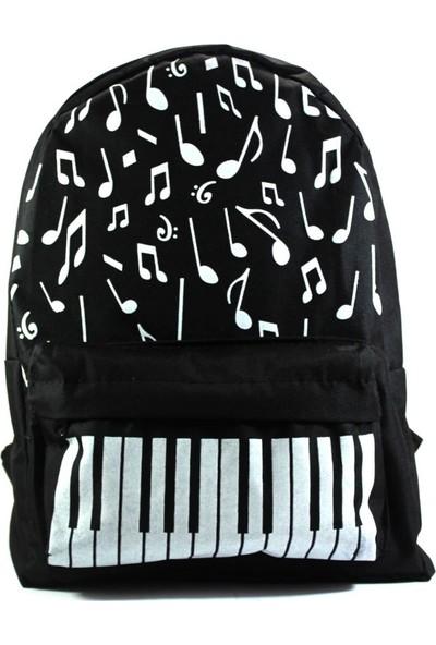 Modaroma Nota Piano Desenli Sırt Çantası
