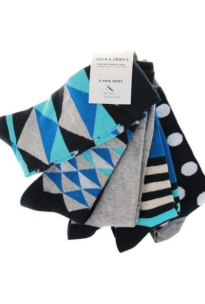 Jack & Jones 5 Li Kadın Çorap 12107538-Renkli