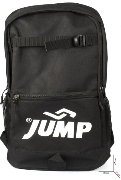 Jump 1068 9K Okul Sirt Siyah Unisex Çanta