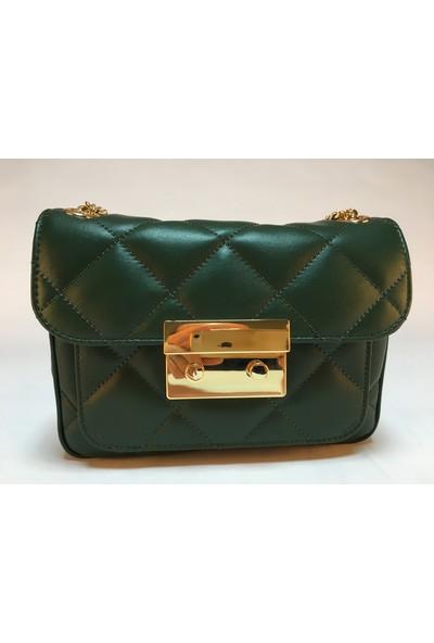 AG6090 METİS Yeşil Deri Kadın Çanta