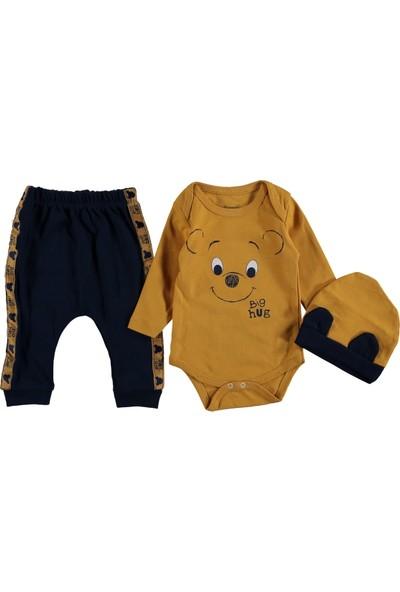 Miniworld Erkek Bebek Big Hug Ayıcık 3p Badili Takım