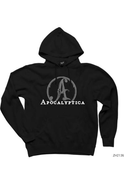 Zepplin Giyim Apocalyptica Logo Siyah Kapüşonlu Sweatshirt