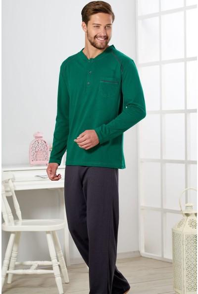 Estiva Erkek Nefti Yeşili Penye Pijama Takımı