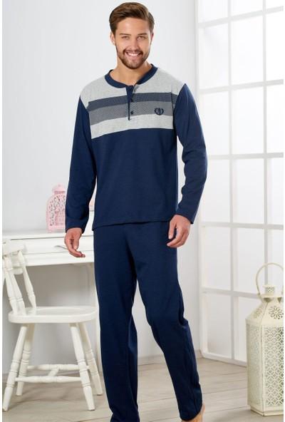 Estiva Erkek Indigo Penye Pijama Takımı