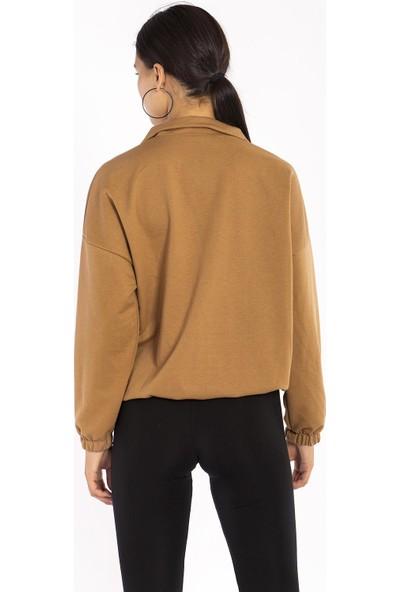 Hds Hadise Bisküvi Önü Kapaklı Sweatshirt 6558