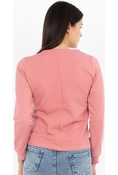 Hds Hadise Gül Kurusu Eteği Zincirli Sweatshirt BB-1425