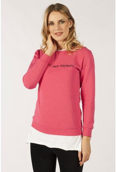 Hds Hadise Pembe Baskılı Sweatshirt D2065T