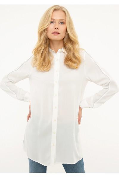 Pierre Cardin Kadın Dokuma Gömlek 50207494-Vr019