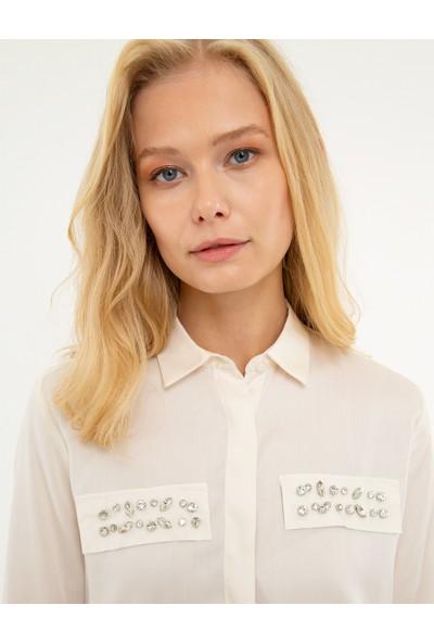Pierre Cardin Kadın Dokuma Gömlek 50209191-Vr019