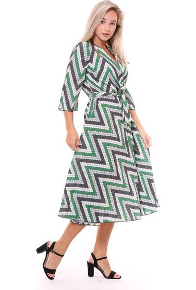 Sense Kadın 32152 Angle A Pileli Elbise